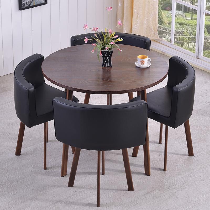 简约圆形会议桌 时尚板式会议洽谈台桌 接待桌 直径 1.5m